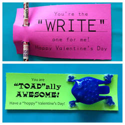 "The ""Write"" One for Me, and ""Toad""ally Awesome Valentines by Hi It's Jilly  {Part of a Valentine roundup on OneCreativeMommy.com}"