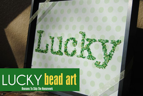 Lucky Bead Art from Reasons to Skip the Housework