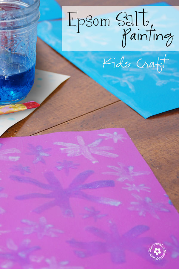 Epsom Salt Painting -- Science Craft for Kids {Watch the paint crystallize as it dries!} OneCreativeMommy.com
