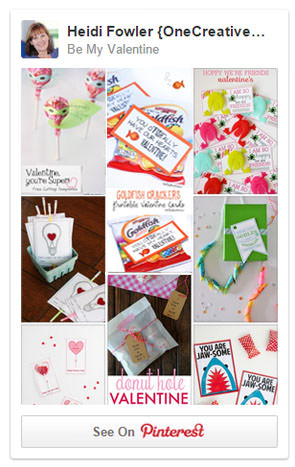 Be My Valentine Pinterest Board {Cute Printable Valentines}