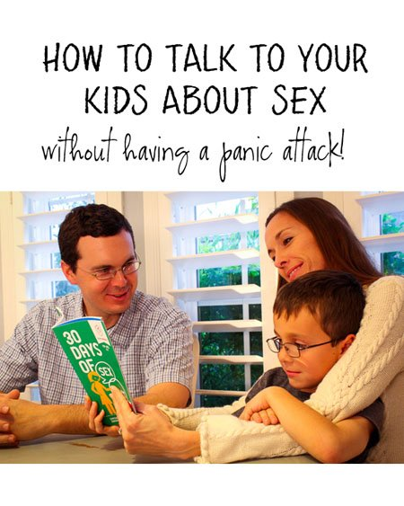 How to talk to your kids about sex (without inducing a panic attack!) -- Throw away your fears and find out how to have honest, open, values-based conversations with your kids. {OneCreativeMommy.com} Parenting Tips #ad