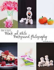 Create Black & White Photography like the pros with this simple and inexpensive set up! {OneCreativeMommy.com}