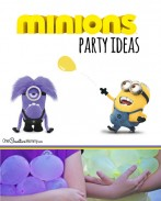 Perfect for a Minion Birthday Party or a summer cool down, kids will love this water balloon fight--Minion style. {OneCreativeMommy.com}