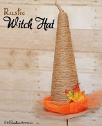Rustic Witch Hat | Fall and Halloween Decor Idea {OneCreativeMommy.com} #MakeItFunCrafts